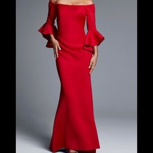 Red ball gown or wedding dress